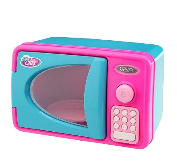 Microondas Le Chef Infantil Com Luz E Som Cozinha Azul Usual