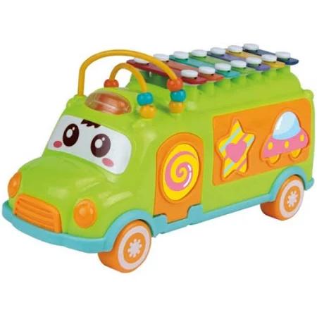 Onibus Com Peças De Encaixe E Xilofone Colorido Baby Divertido Com Som - Dmb5801 Dm Brasil