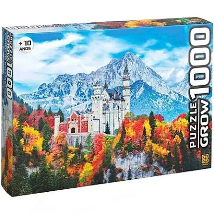 Puzzle Quebra Cabeça Castelo De Neuschwanstein 1000 Pçs Grow