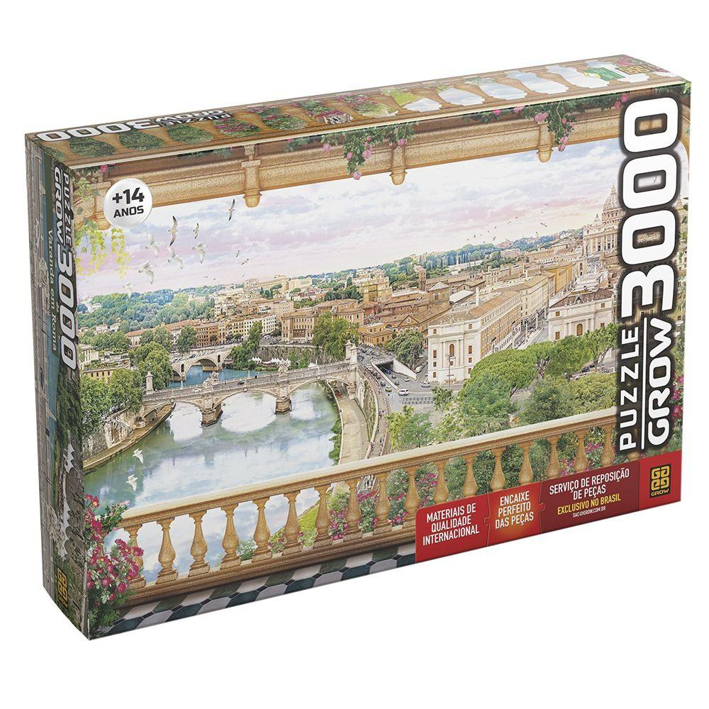 Quebra Cabeça 3000 Peças Varanda Em Roma Ref. 03941 Grow