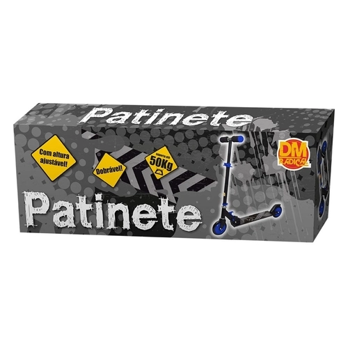 Patinete Radical Preto E Azul - Dmr4884 Dm Brasil