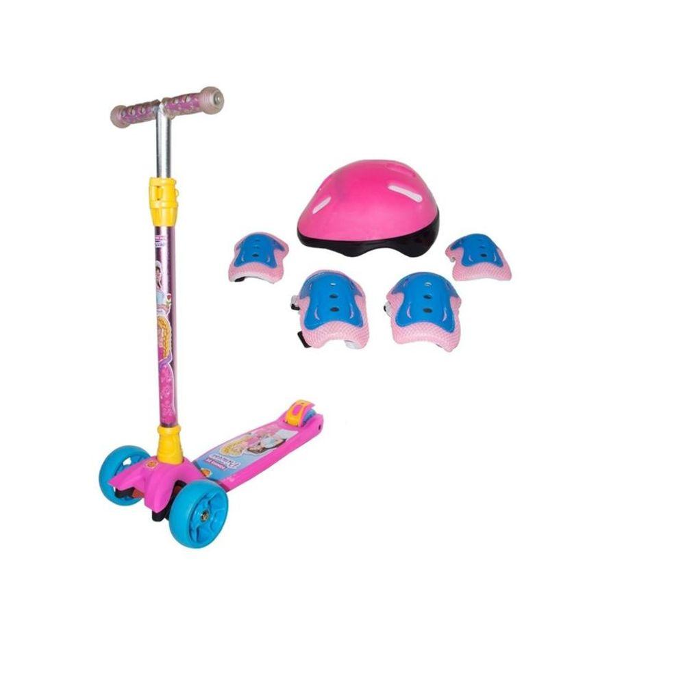 Patinete Infantil Sonho De Princesa Kit De Proteção - DMR5549'