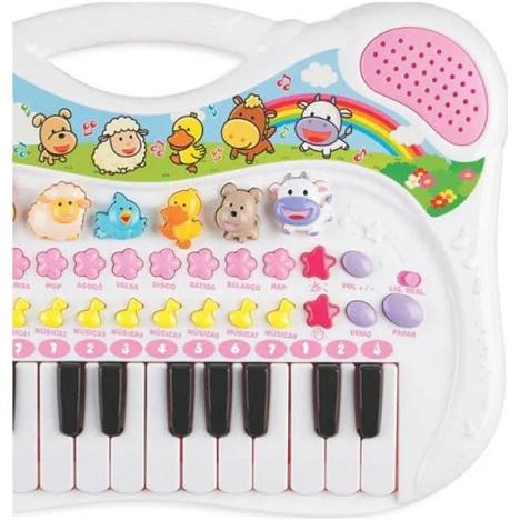 Piano Musical Animal Rosa - 6408 Braskit