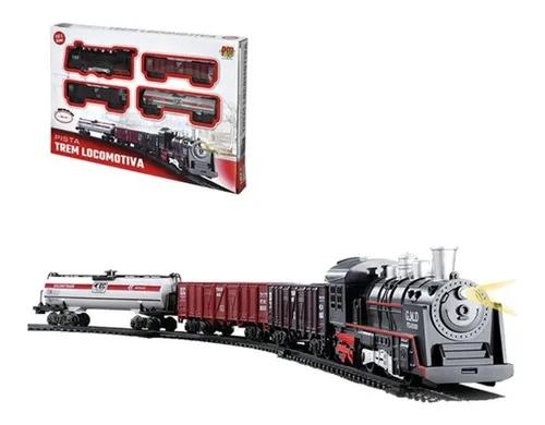 Pista Trem Locomotiva Com Luz E Som - Dmt5374 Dm Brasil