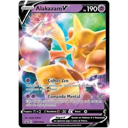 Pokemon BOX Alakazam PODERES V - 88588 Copag