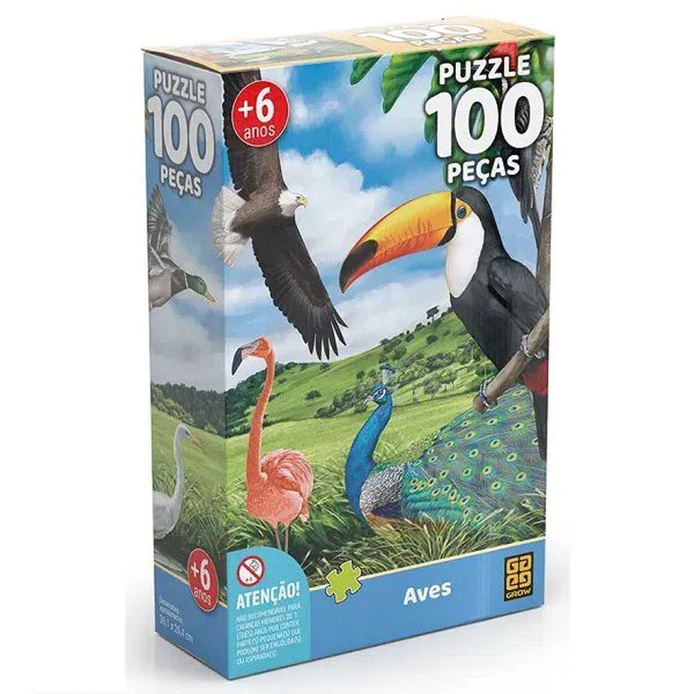 Quebra-Cabeça 100 Peças Aves Grow 03925