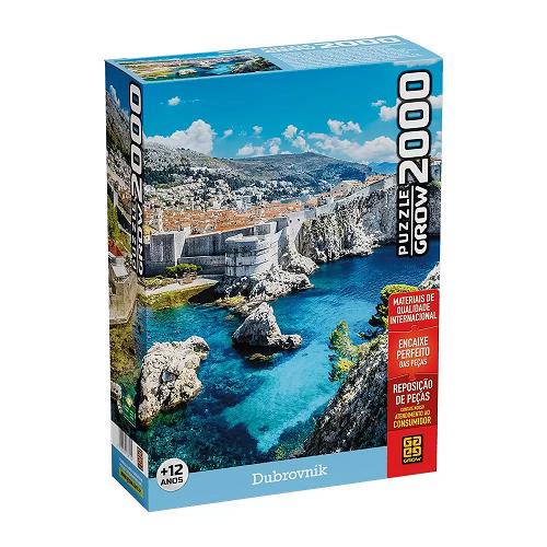 Quebra Cabeça 2000 Peças Dubrovnik Ref.03610 Grow