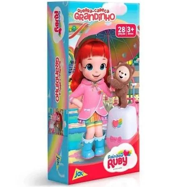 Quebra Cabeça 28 Peças Grandinho Rainbow Ruby - 2525 Toyster