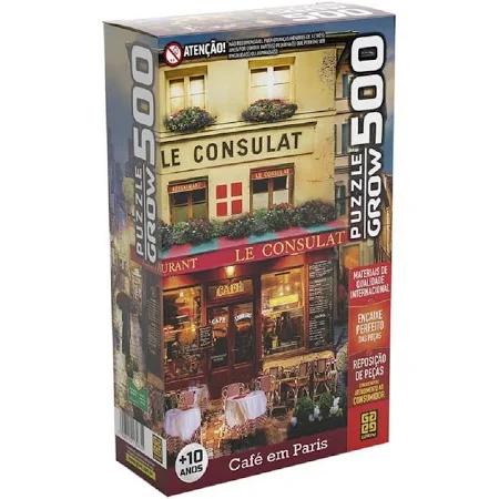 Quebra Cabeça 500 Peças Cafe Em Paris Ref.03965 Grow