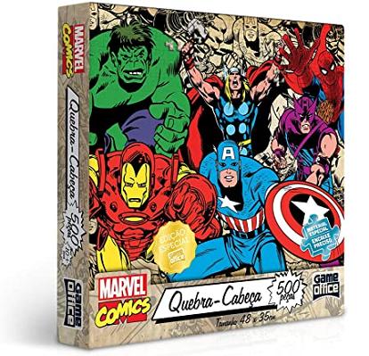 Quebra Cabeça 500 Peças Marvel Comics 2018 Toyster