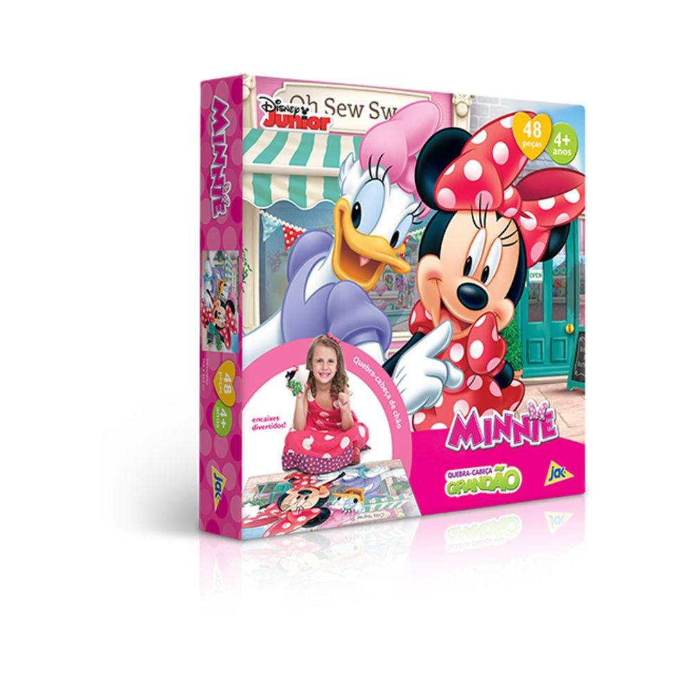 Quebra Cabeça Grandao Minnie 48Pcs Ref.2206 Toyster