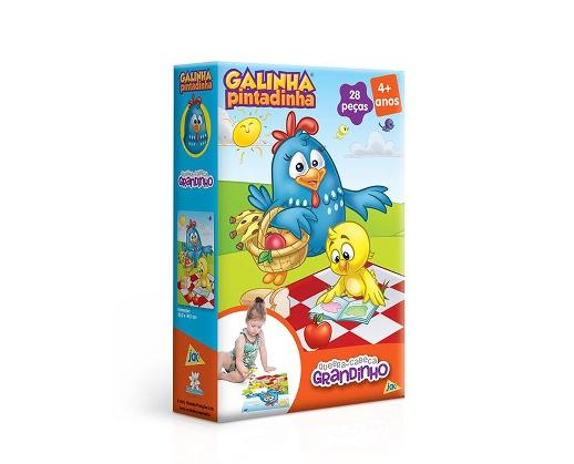 Quebra Cabeça Grandinho Galinha Pintadinha Ref.2743 Toyster