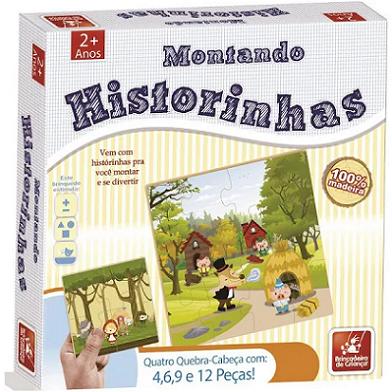 Quebra Cabeça Montando Historinhas - 8412 Brincadeira De Crianca