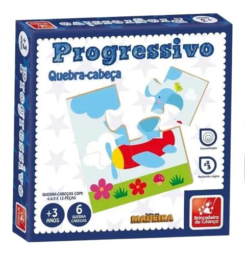 Quebra Cabeça Progressivo Madeira 41 Peças - 9343 Brincadeira De Crianca