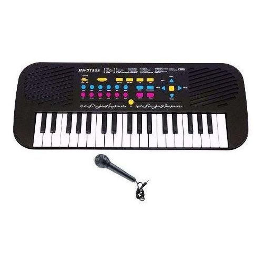 Teclado com Microfone HS3755A 37 Teclas 22 Músicas Demonstrativas - DMTOYS