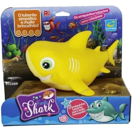 Tubarão De Vinil Family Shark Amarelo - R216 Cometa