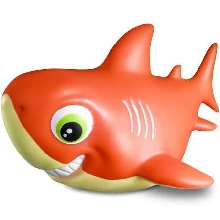 Tubarão De Vinil Family Shark Laranja - R218 Cometa