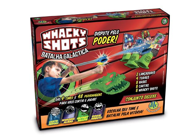 Lançador - Whacky Shots - Conjunto Warrior Deluxe - Lançador e Figuras - DTC