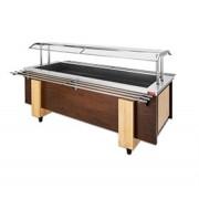 Buffet refrigerado acabamento em madeira