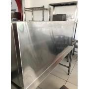 Prateleira inox 100cm com suporte inferior WSL1040 - ssvale