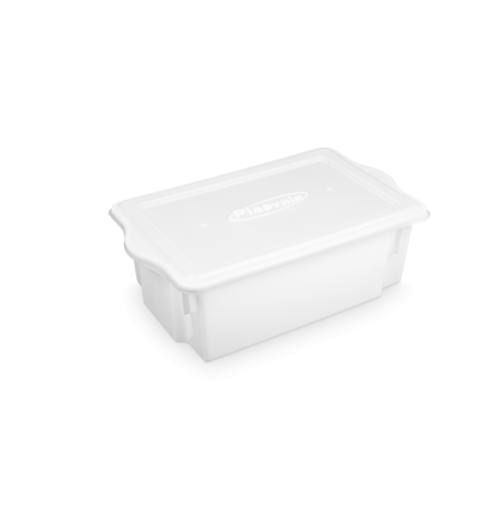 Caixa Plástica empilhável 24,5 Litros com tampa - Plasvale