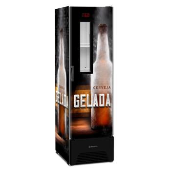 Cervejeira com Visor Expositor Slim 324l - Metalfrio
