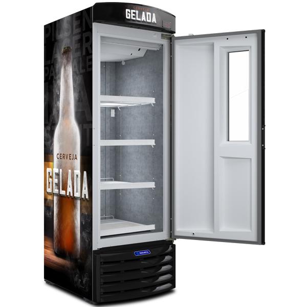 Cervejeira com Visor Expositor Slim 572l - Metalfrio