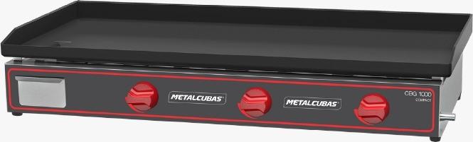 Chapa Bifeteira Compacta a Gás CBG1000C - Metalcubas