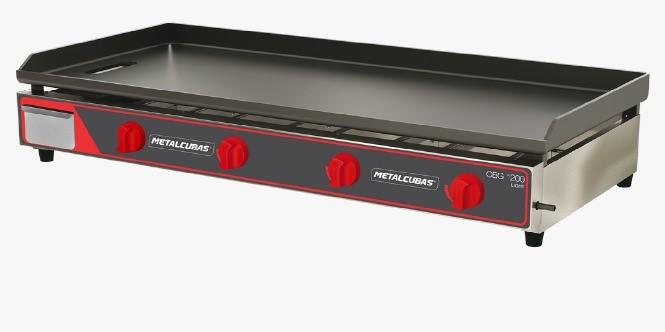 Chapa Bifeteira Compacta a Gás CBG1200C - Metalcubas