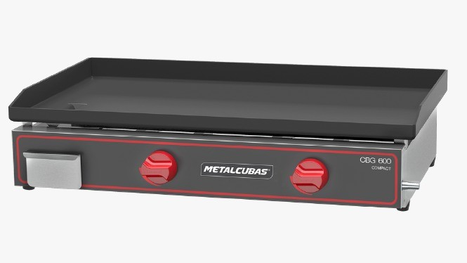 Chapa Bifeteira Compacta a Gás CBG600C - Metalcubas