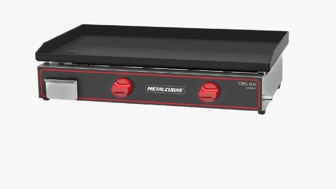 Chapa Bifeteira Compacta a Gás CBG800C - Metalcubas