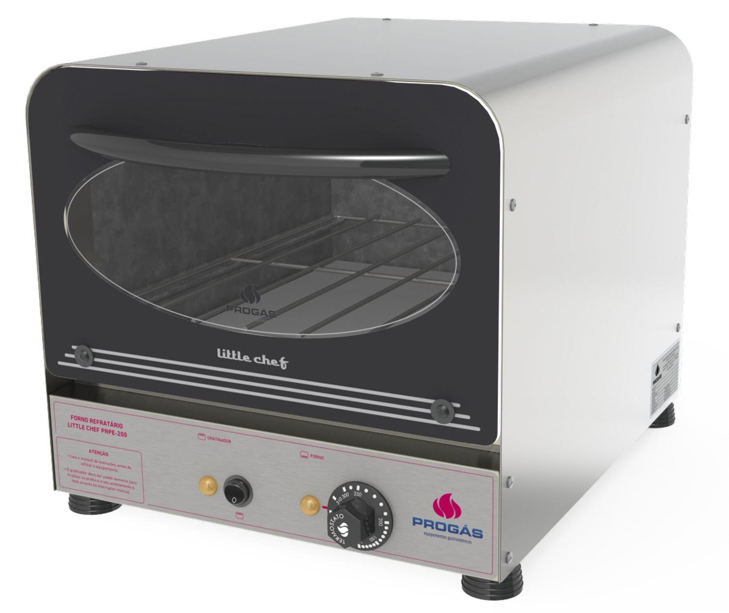 Forno Assador Little Chef Progás Inox Preto