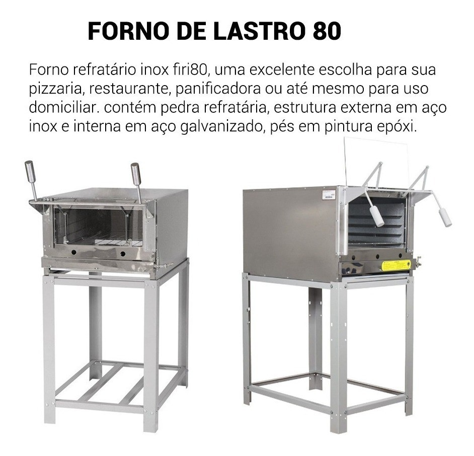 Forno refratário a gás Venancio FIRI80