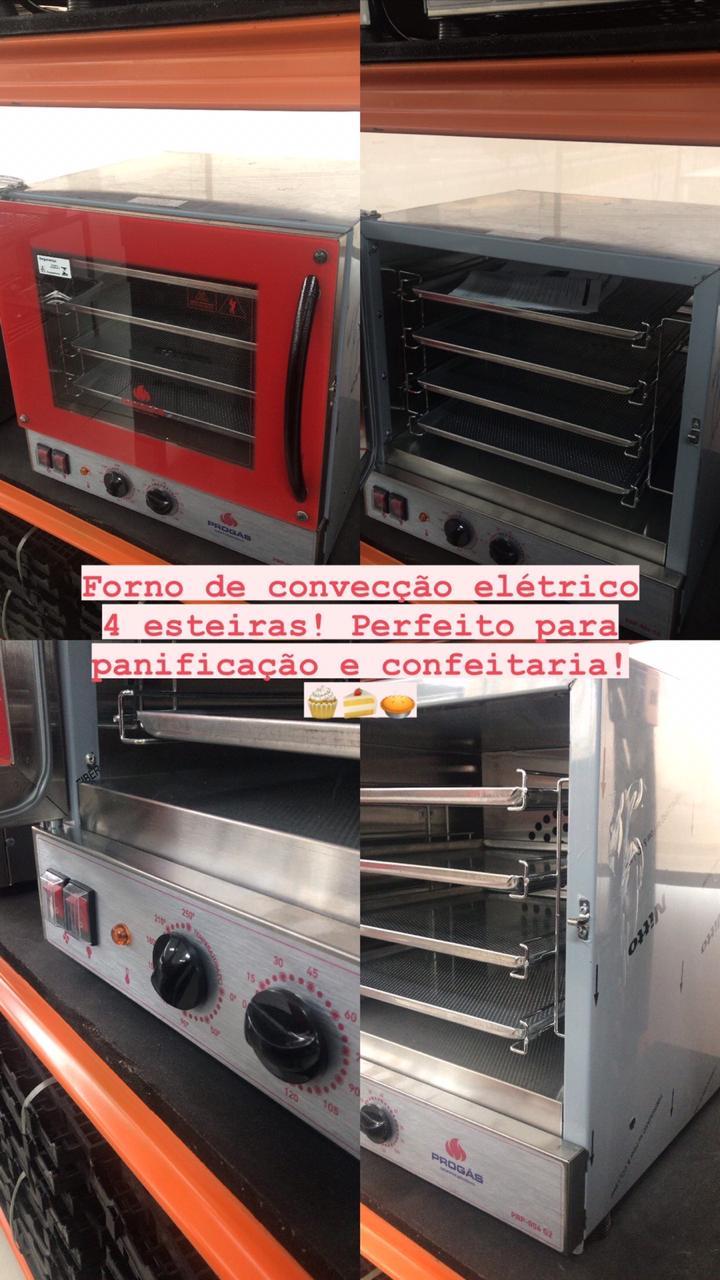 Forno Turbo elétrico PRP 004 Preto Vermelho