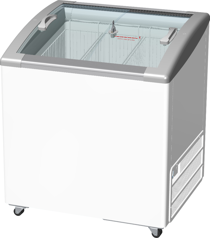 Freezer Horizontal p/ Sorvete 201L Inclinado - Fricon