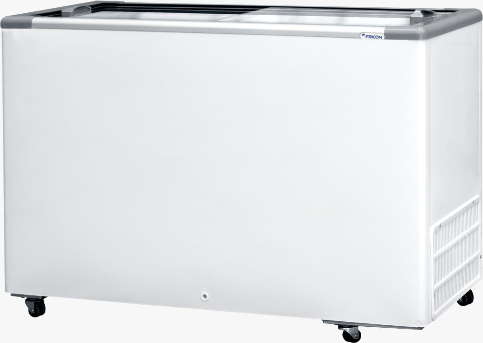 Freezer Horizontal Tampa de Vidro 411l - Fricon