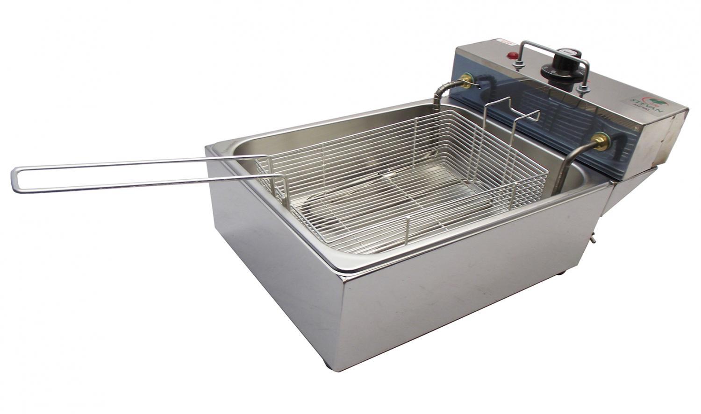 Fritador 1 Cuba Elétrica 5 Litros em Aço Inox – Stevan metal