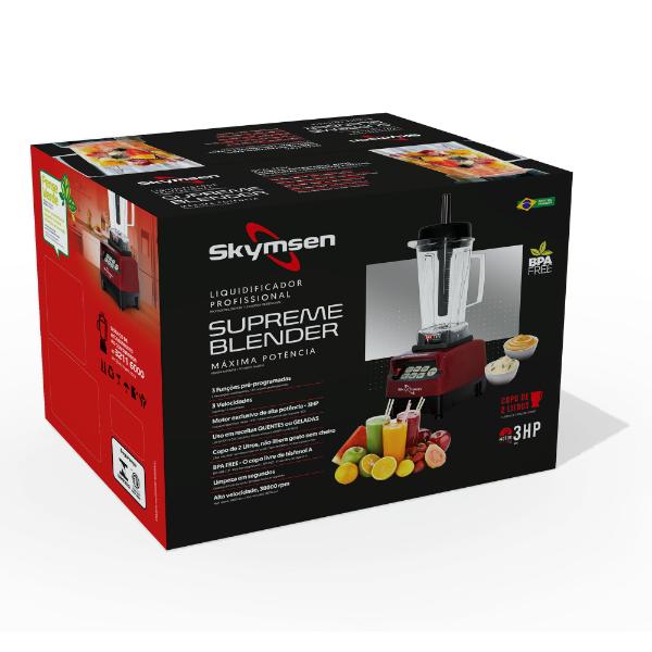 Liquidificador supreme blender, copo tritan, alta rotação, com funções pré-programadas, 2,0 litros BS2 - Skymsen