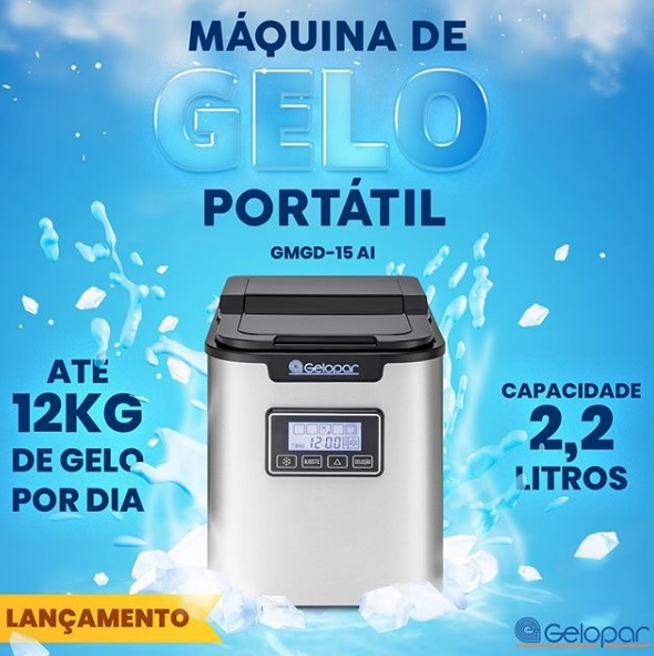 Máquina de gelo  GMGD-15 AI - Gelopar