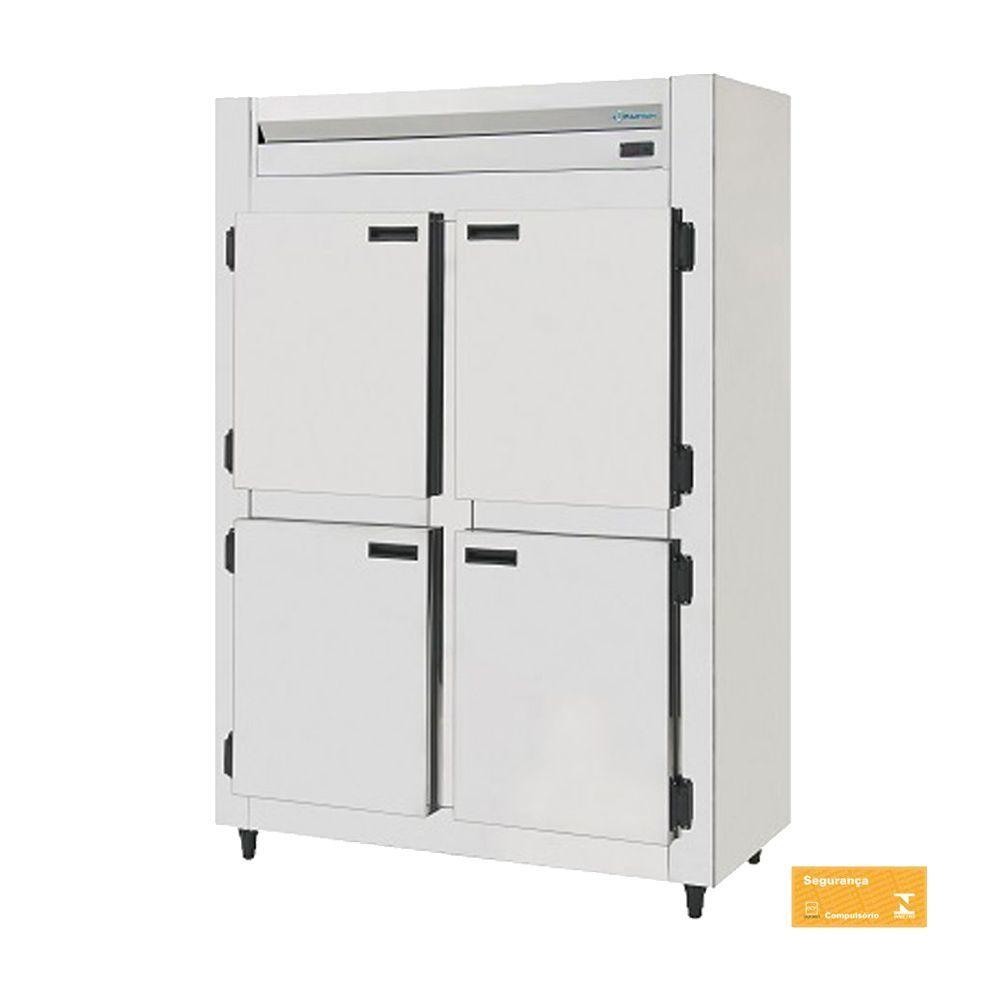 Mini Câmara Fria Industrial Inox 4 Portas 750 Litros