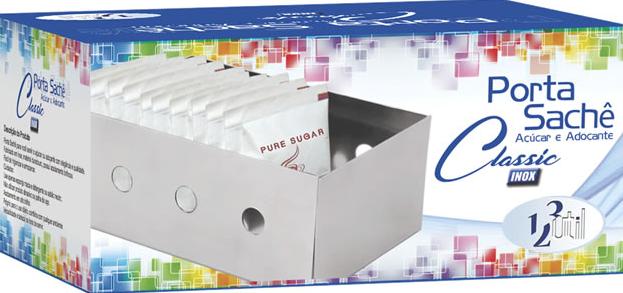 Porta Sachês açúcar UD248 INOX - 123 Util