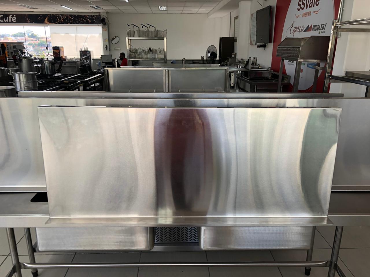 Prateleira inox 100cm com suporte inferior WSL1040