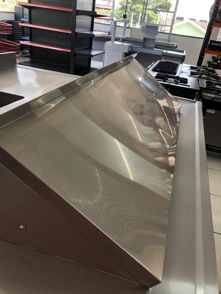 Prateleira inox 120cm com suporte inferior WSL1240