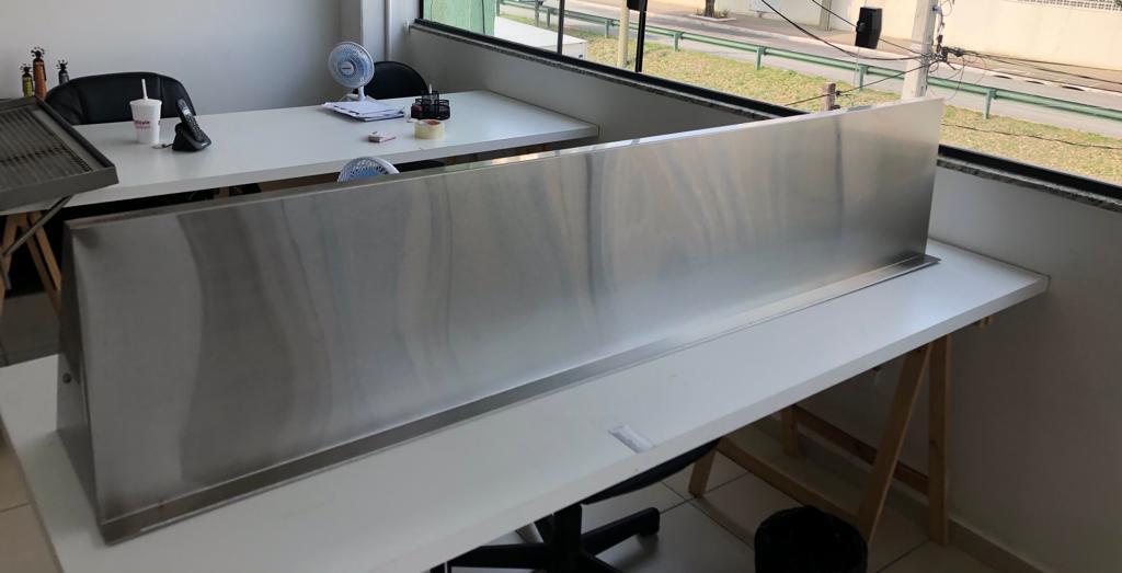 Prateleira inox 190cm com suporte inferior WSL1940