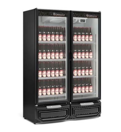 Refrigerador/Expositor Vertical  GCBC-950 PR Preto Gelopar 957 Litros - Gelopar