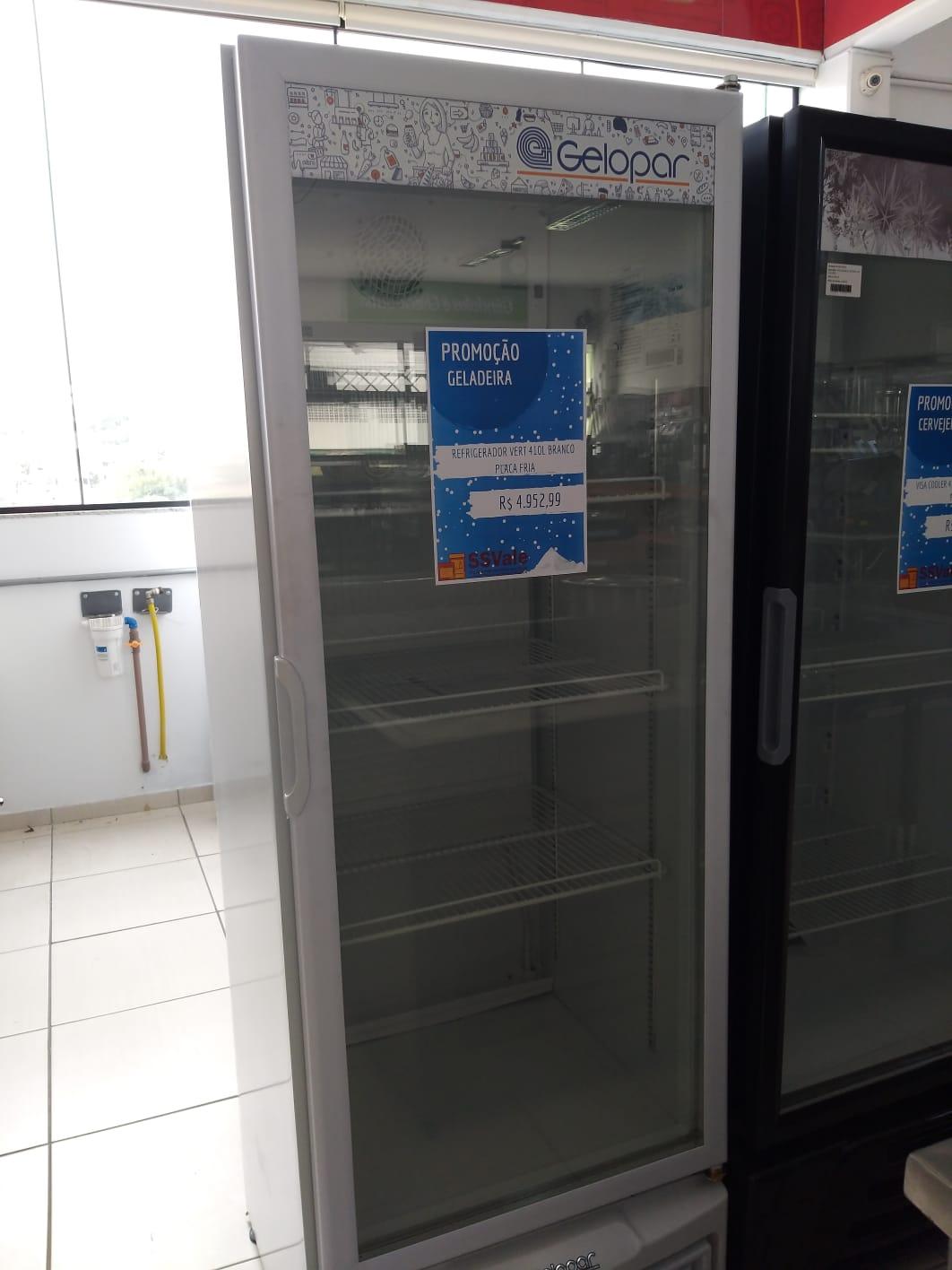 Visa cooler Refrigerador vertical 410lts Branco Placa Fria - Gelopar