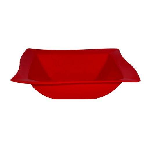 Saladeira PP Vermelha 25x25 Vemplast