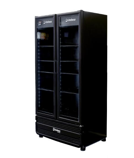 Visa Cooler 745Lts Porta Vidro Dupla Preta G3D26 - Imbera