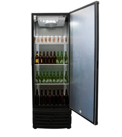 Visa Cooler Cervejeira 454L CCV15 Porta Cega Preta Imbera