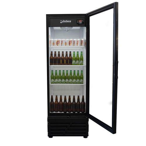 Visa cooler Cervejeira 454L CCV315 Porta Vidro Preta Imbera